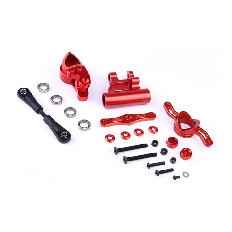 CNC Metal Double Arms Steering Group Kits for 1/5 Scale Rovan LT Losi 5ive-T DDT 5T RC Car Parts 65kg big torque metal gear steering servo with 15t 17t double sided cnc metal arm for 1 5 hpi rovan baja 5b 5t losi 5ive t