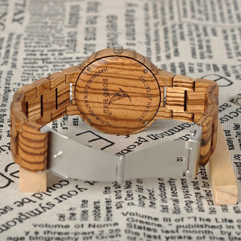 Zebra Ebony Wooden watch, with a Gift box 4