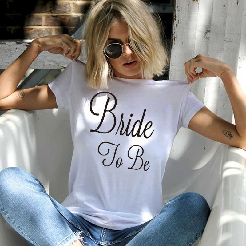 New Summer Arrivals T Shirt men Gold Bride To Be women tshirt Marriage Wedding Bachelorette Party Shirts hip hop tops streetwear