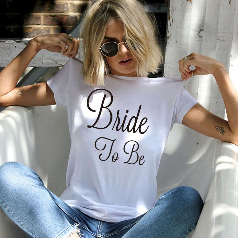 New Summer Arrivals T Shirt Men Gold Bride To Be Women Tshirt Marriage Wedding Bachelorette Party Shirts Hip Hop Tops Streetwear
