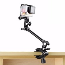 New Guitar Drum Clips 360 Rotate Music Mount Arm Stand Clamp for GoPro HERO 4 3+