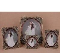 Antique European Style Wedding Photo frame Birthday Gift Hollow Flower Frame Table Diamond photo Frame
