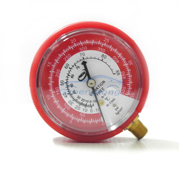 Air Conditioning High (Red) Pressure Gauge Refrigerant R134A R12 0-35KG/cm2 and 0-500PSI Free Shipping