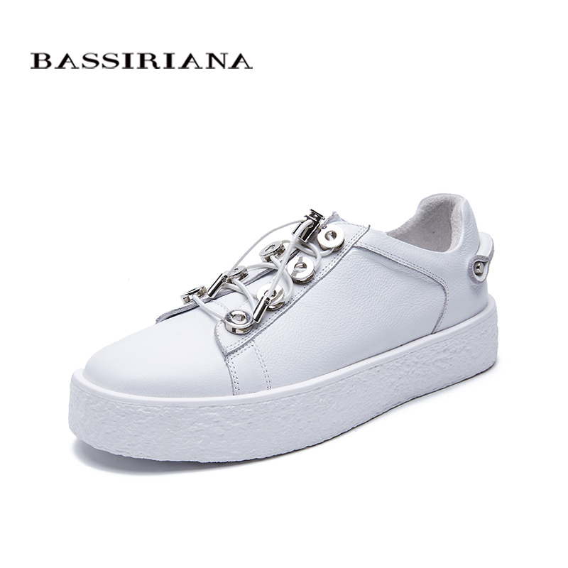 Здесь продается  BASSIRIANA new 2018 Fashion Casual Flat shoes woman Brand Platform breathable lace up Oxford black spring summer 35-40 size  Обувь