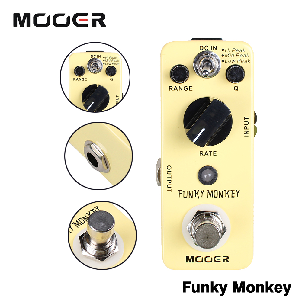 Mooer Wide Adjustable Range Auto Wah Effects Mini Funky Monkey Guitar Effect Pedal True Bypass 3pcs lot hss steel large step cone titanium coated metal drill bit cut tool set hole cutter 4 12 20 32mm wholesale