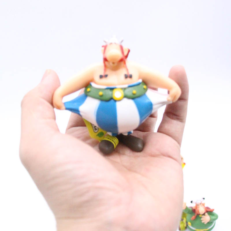 6pcs/set Classic France Cartoon The Adventures of Asterix Figures Toys Kids Childrens s