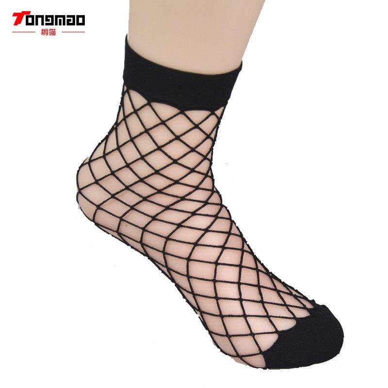 Transparent Tulle Socks Sheer Mesh Ankle Socks Girls Hollow Net Fishnet Hosiery