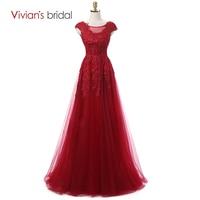 Вивиан свадебные темно красный сексуальная кружева вечерние платья с 2016 кутюр формальные вечернее платье китай с рукавами настоящее фото