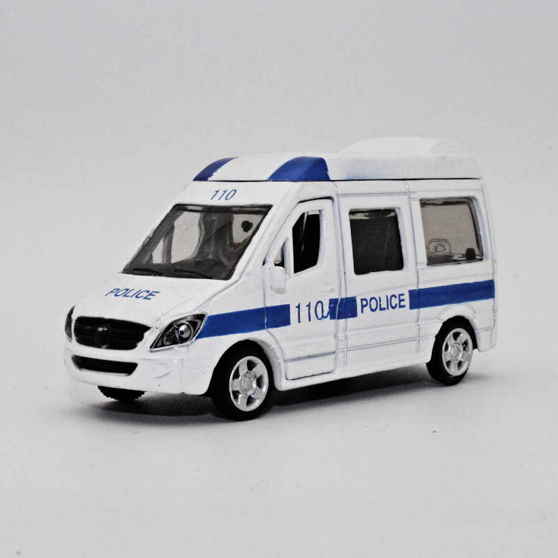 TC 1:64 Diecast Alloy car model ambulance 110 kids toys Open the door Pull back function Give your child the best gift