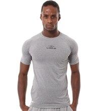 A18314 с коротким рукавом мужская одежда компрессионные колготки тренировки одежда Спорт на открытом воздухе быстросохнущие стрейч-футболка гимнастическая майка 85