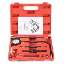 Autoleader Auto Fuel Injection Pump Pressure Tester Kit Car Petrol Gas Engine Cylinder Compression Gauge Car Diagnostic Tool