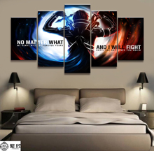 Hot Sales Without Frame 5 Panels Picture Sword Art Online Animation Painting Artwork Wall Canvas Wholesale