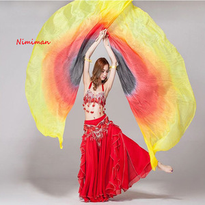 Image 1 - 2019 New arrivals cheap silk belly dance isis wings belly dancing costume accessories on sale (not stick)
