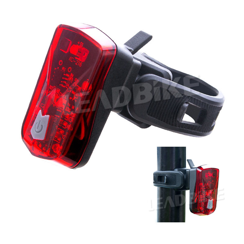 USB Rechargeable Bike Tail Light Super Bright Rear LED Light Waterproof Safety