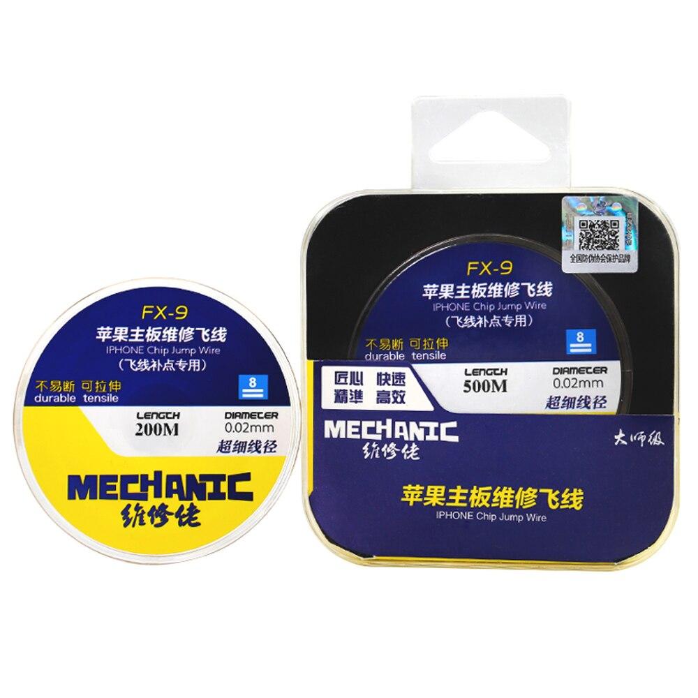 MECÂNICO FX-9 Motherboard Telemóvel linha da Mosca Manutenção Placa PCB Reparação Fio de Ligação 0.01/0.02mm Fio de Cobre Puro
