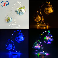 ZjRight Led bulb String Light X frame dry flower petal sachet Battery 2 glass ball Xmas gift Help sleep table night hanging lamp