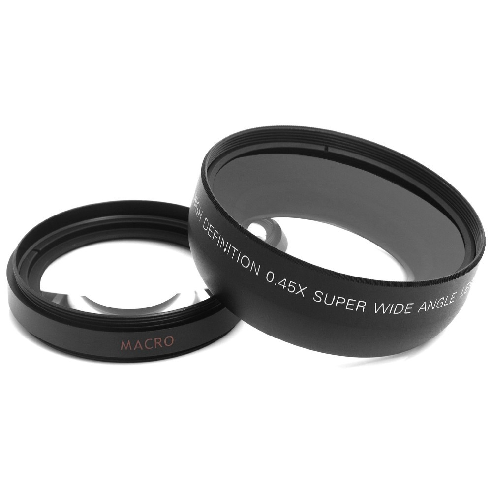52MM 0.45x Wide Angle Lens + Macro Lens for Nikon DSLR Cameras with 52mm UV Lens Filter Thread Free Shipping 5