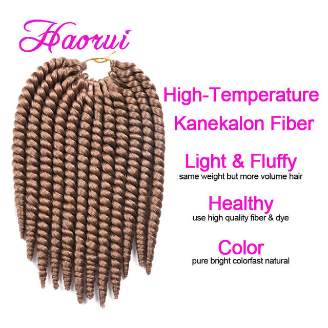 Haorui 10 Short Length Havana Mambo Twist Cheap Synthetic Hair