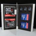 7 em 1 Alumínio caso de cartão de memória Portátil para SD/SDHC/MMC/CF/TF Cartão de Casos Os Titulares de CARTÃO