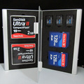 7 in 1 Aluminum Portable memory card case for SD/SDHC/MMC/CF/TF Card Cases CARD Holders