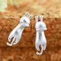 1 Par de Novos Brincos de Prata 925 Esterlina Gato Prata Brincos Brincos Declaração de Jóias Para As Mulheres