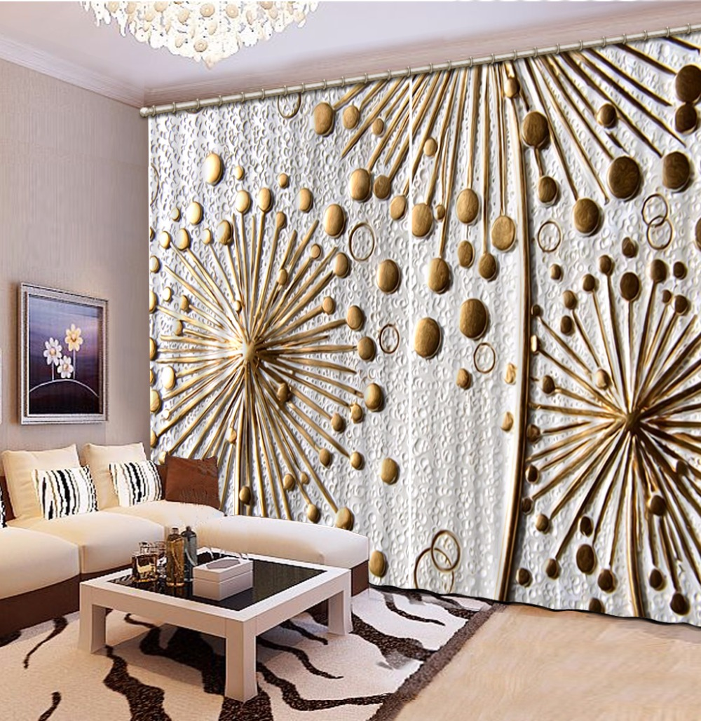 3D Curtain Custom any size Curtain Living Room Dandelion Relief Curtains Design Blackout Shade Window Curtains