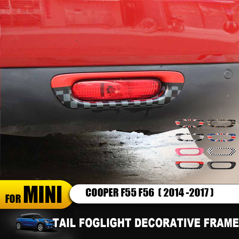 Union Jack Car Outside Rear Tail Foglight Fog Light Lamp Frame Trim Decorative Sticker For mini