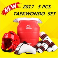 Wholesale WTF approved Taekwondo protectors suite Helmet chest shin arm guards Child karate headgear MMA kick body hugo Helmets