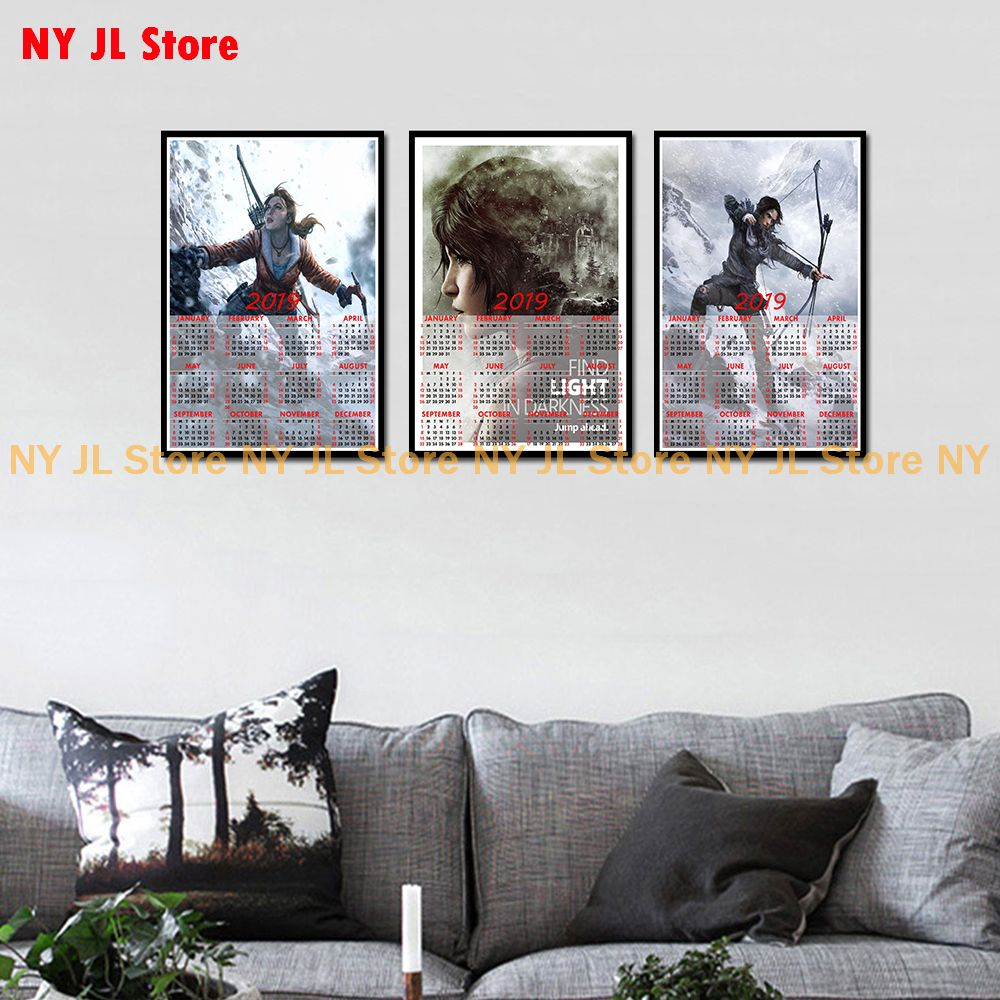 US $2 04 32% OFF|Rise of The Tomb Raider Game poster 2019 calendar Home  Furnishing decorative white coated paper Poster Wall Sticker Home Decora-in