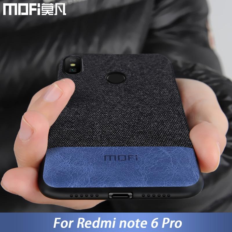 Für Xiaomi Redmi Hinweis 6 fall abdeckung note6 Globale Version zurück abdeckung silikon rand stoff fall coque MOFi Redmi hinweis 6 pro fall