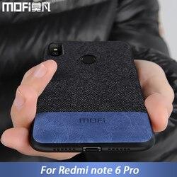 For Xiaomi Redmi Note 6 case cover note6 Global Version back cover silicone edge fabric case coque MOFi Redmi note 6 pro case