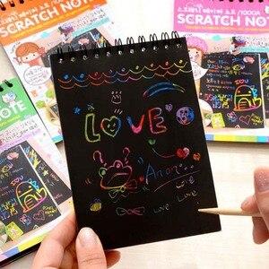 جديد ورقة ملونة DIY الاطفال التعليمية لعب متعة العبث الصفر الأطفال الكتابة على الجدران الملونة خشب أسود عصا الاطفال الحرف-20