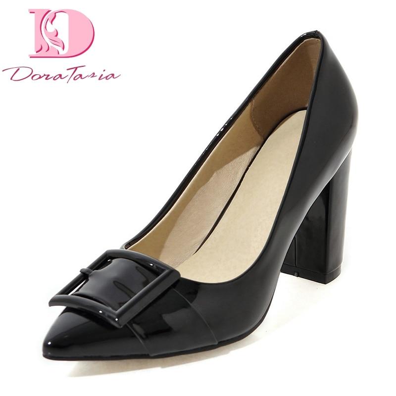Doratasia Women's Shoes Pumps Pointed-Toe High-Heels Elegant Big-Size Wholesale Fashion