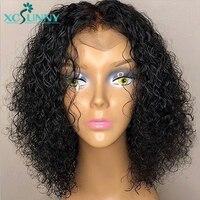 Вьющиеся шелк базы Full Lace человеческих волос парики 5x4,5 с ребенком волосы парик бразильский Волосы remy отбеленные узлы 130% для Для женщин