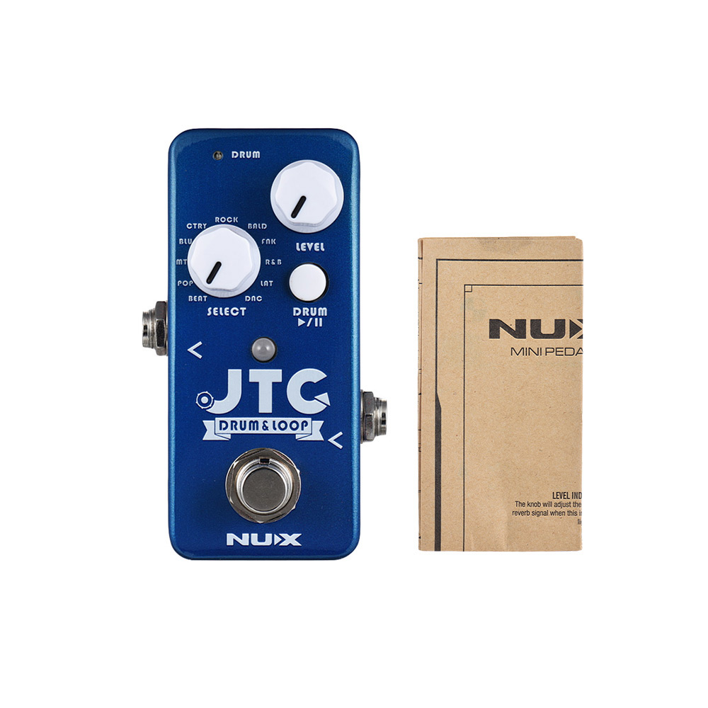 Musical Instruments Kind-Hearted Nux Ndl-2 Jtc Drum & Loop Guitar Effect Pedal Looper 6 Minutes Recording Time 10 Drum Rhythms Smart Tap Tempo With Footswitch For Sale