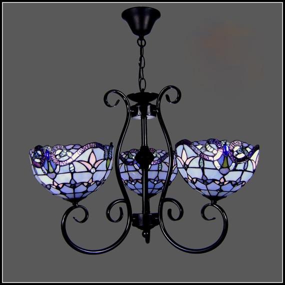 tiffany blue color glass Pendant Light  Bedroom Living Room Lights Antique Brass