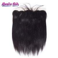 Mornice Hair Brazilian Remy Hair 13X4 Lace Frontal Closure Straight Bleached Knots Baby Hair 130 Density