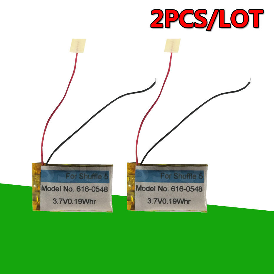 2PCS/LOT 616-0548 0.19Whr Battery For ipod For shuffle 4th 5th 6th Generation 4 5 6 Accumulator Batterie AKKU(China)