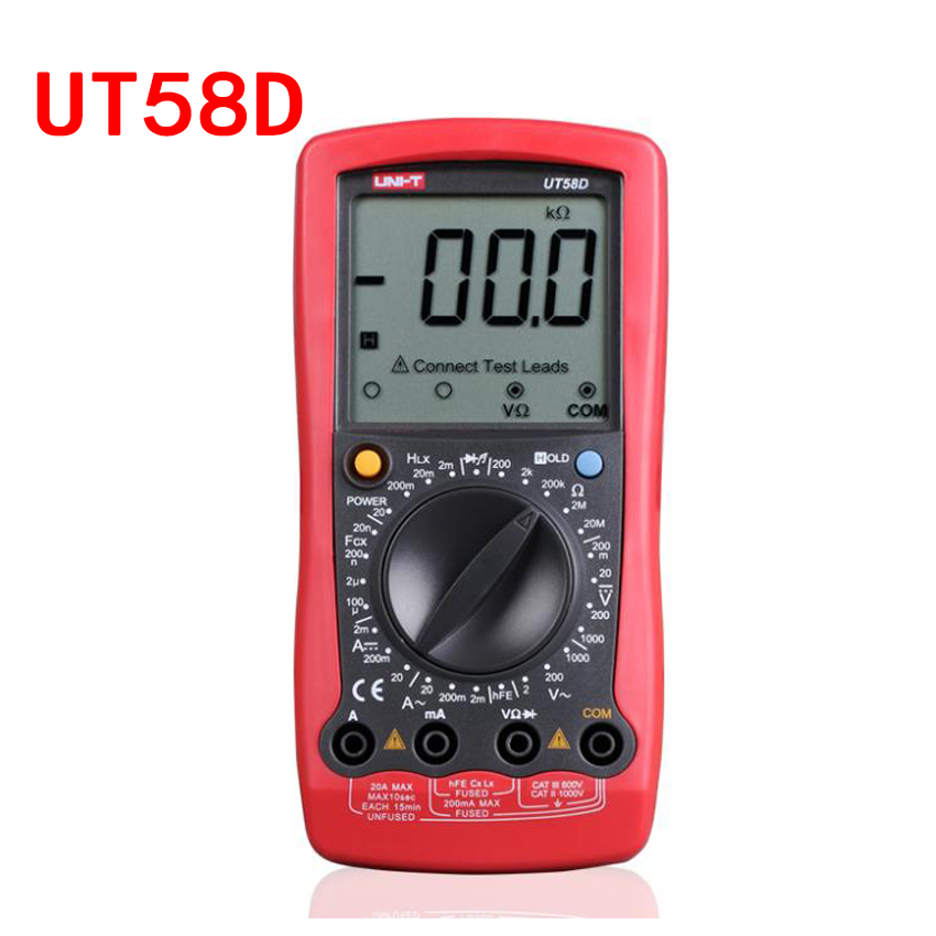 UNI-T UT58A/UT58B/UT58C/UT58D/UT58E LCD Digital Multimeter AC DC Voltmeter Amp Ohm Capacitance Tester