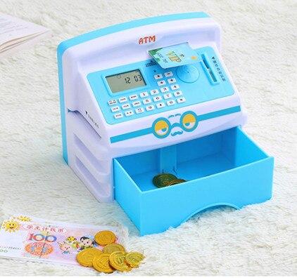 Tirelire Mini ATM tirelire sécurité mot de passe électronique à mâcher des pièces de monnaie