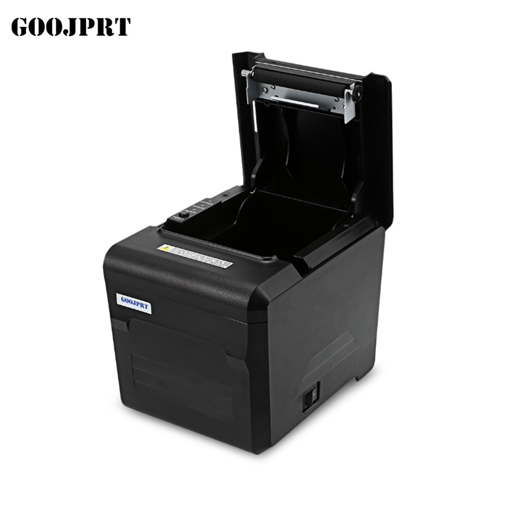 Free Shipping 2017 new wholesale brand new High quality 80mm thermal printer  USB + LAN + serial port printer auto cutter 2017 new arrived usb port thermal label printer thermal shipping address printer pos printer can print paper 40 120mm