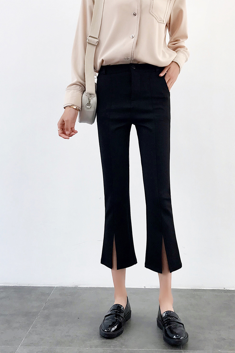 High-waisted Flare Pants Women 2018 Summer New Hot Fashion Female Casual Loose Ankle-length Pants Trousers Bottoms 6