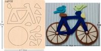 Bicycle wooden mould cutting dies for scrapbooking Thickness 15.8mm