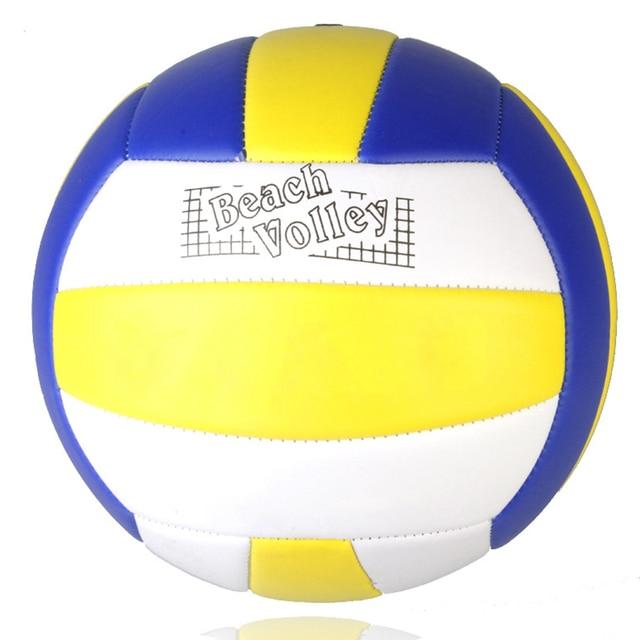 El más nuevo 1 piezas tamaño estándar 5 Voleibol de cuero de la PU de encuentro de Voleibol de interior al aire libre de la bola de formación suave toque de voleibol de playa