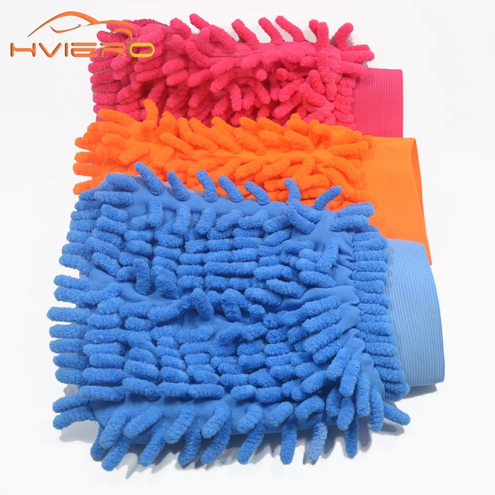 Microfiber Chenille car cleaning Mitt Car Wash Vehicle Auto Cleaning glove equipment Car detailing Cloths Home Duster