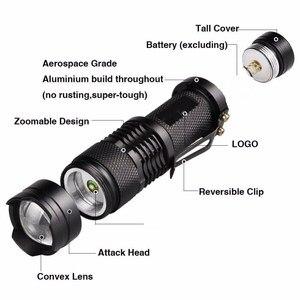 Image 3 - Ngoài Trời LED Đèn Pin Siêu T6/L2 Siêu Sáng Tập Trung Zoom Đèn Pin Với Pin + Tặng 1 Đèn Pin Mini + Sạc dành Cho Cắm Trại Tặng