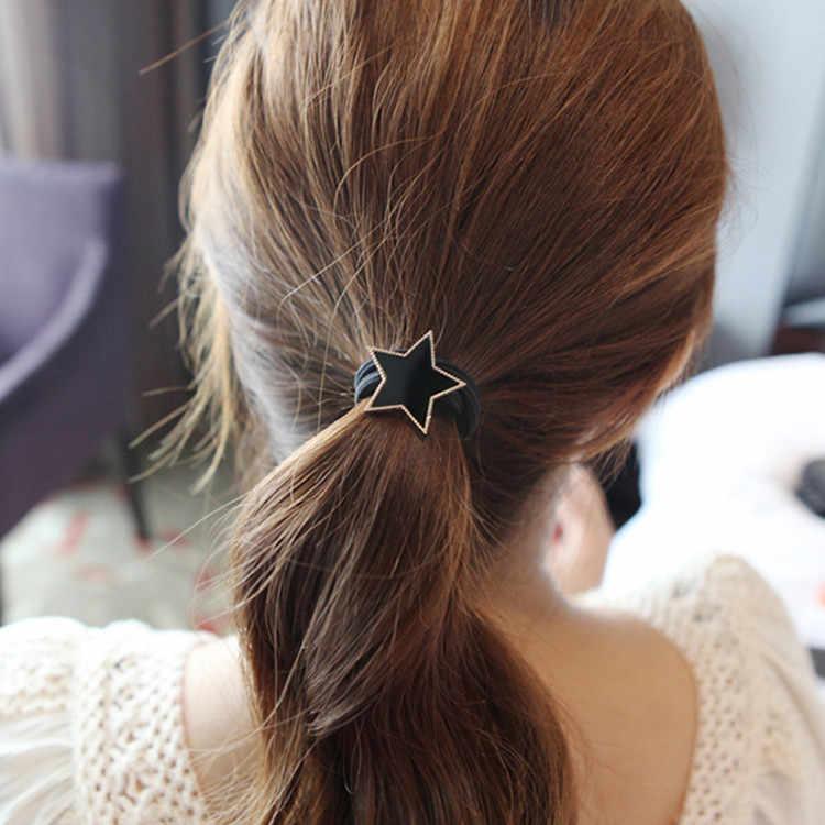 fa39054f366a Простой Дизайн металлическая звезда волос веревки Для женщин резинка для  волос ...