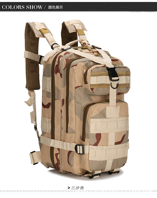 Outdoor Military Rucksacks 1000D Nylon 30L Waterproof Tactical ... 901f5890cecfc