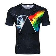 Casual t shirt hommes/femmes Mode 3d t-shirt imprimer Géométrie triangle  espace/