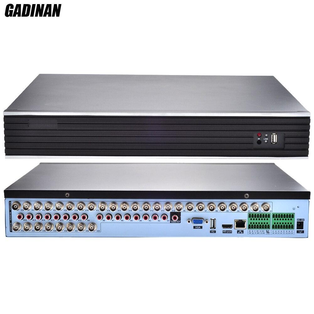GADINAN 32CH AHDM 720P Hybrid DVR HVR NVR 3 IN 1 Two Way Audio 16CH